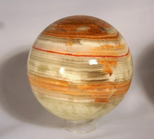 Sphere_Large Onyx-green-brown-banding