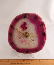 Pink Agate clock - index