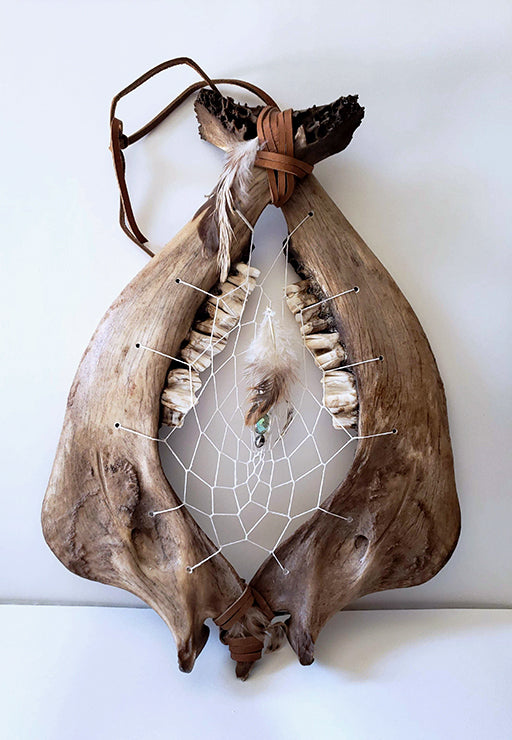 Buffalo bones create the frame for the Dream Catcher