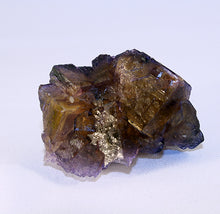 Fluorite crystal cluster side view