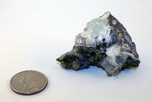 Crystal - Fluorite crystals and Pyrite on matrix