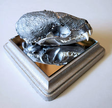 Silver Martin Skull on matching silver base