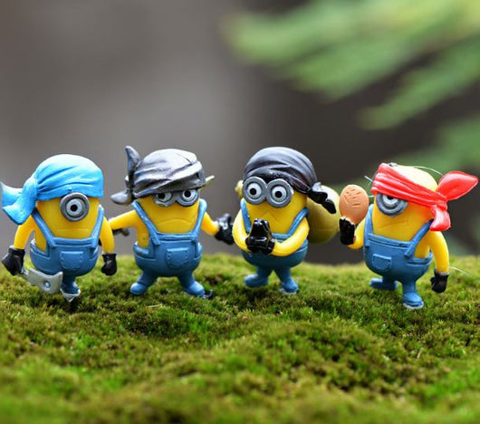 Minions Collectible 4 Piece Figurines Set