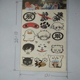 Temporary Tattoo Stickers-Naruto-Tokyo Ghoul-Attack on Titan-One Piece-and more!