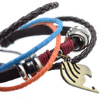 Leather Bracelet in 4 Options: Fairy Tail, Attack on Titan, Miku, Naruto