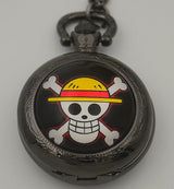 One Piece Collectible Quartz Pocket Watch with Chain Necklace