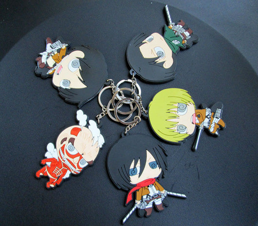 Attack on Titan Keychains Eren Mikasa Armin Levi Titan **Set of 5**