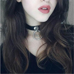 Anime Necklace Choker Metal Round Pendant