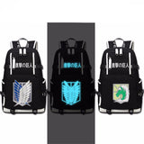 Attack on Titan Scout Legion Military Police Canvas Backpack