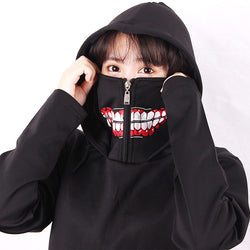 Tokyo Ghoul Hooded Mask Sweater