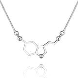 Serotonin Molecule Necklace Pendant