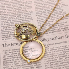 Vintage Style Magnifying Glass Pendant Necklace