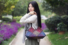 Handmade Vintage Embroidery Rice Dumplings Women Shoulder Bag
