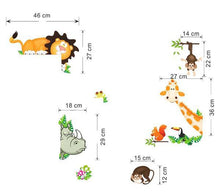 Home Decor Cute Animal Wall Stickers