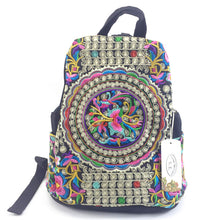 Handmade Embroidery Ethnic Canvas Backpack For Women