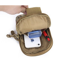 Universal Outdoor Canvas Military Holster Style Waist Bag-Packs for Belt