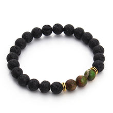 High Quality Black Lava Natural Stone Yoga Beaded Bracelet