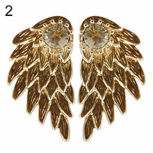 Rhinestone Angel Wings Ear Studs