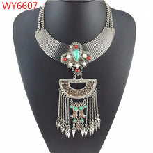 Trendy Vintage Turquoise Choker Necklaces & Pendant for Women