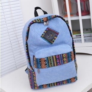 Women Ethnic Canvas Laptop Backpack