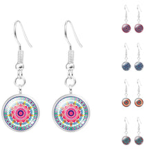 Copy of Silver Plated Mandala Flower Drop  Dangle  Earring for Women