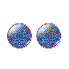 Copy of Classic Mandala Flower OM Symbol Glass Cabochon Stud Earring