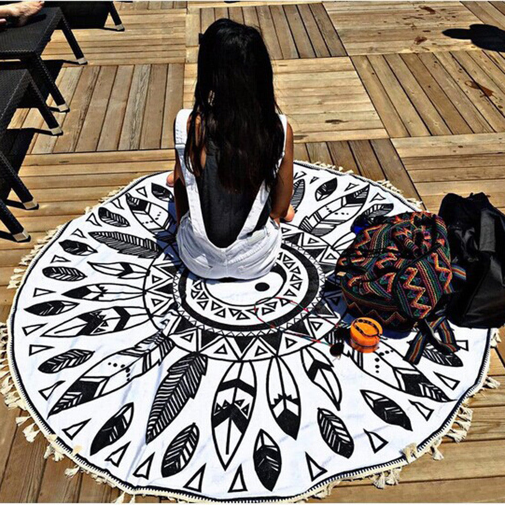 Round Yoga Meditation Towel/Mat