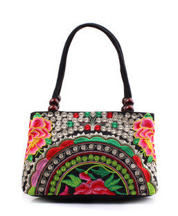 Original Vintage Style  Canvas Ethnic Handbag for Women