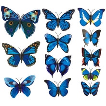 12PCS 3D PVC Butterflies Sticker