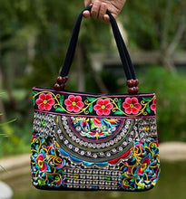 Handmade Small Canvas Embroidery Ethnic Shoulder Bag For Women