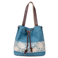Ladies Canvas Bucket Flower Printing Designer Bags