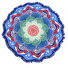 Lotus Pattern Round Yoga Meditation Towel/Mat