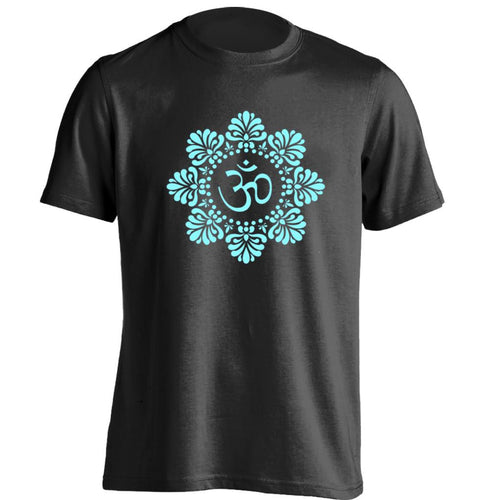 Tibetan Om in Flame Mandala Mens T-Shirt