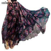 Bohemian Style Floral Print Long Skirts for Women