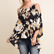 Off Shoulder Floral Print Sexy Blouses for Ladies (Size: S-5XL)