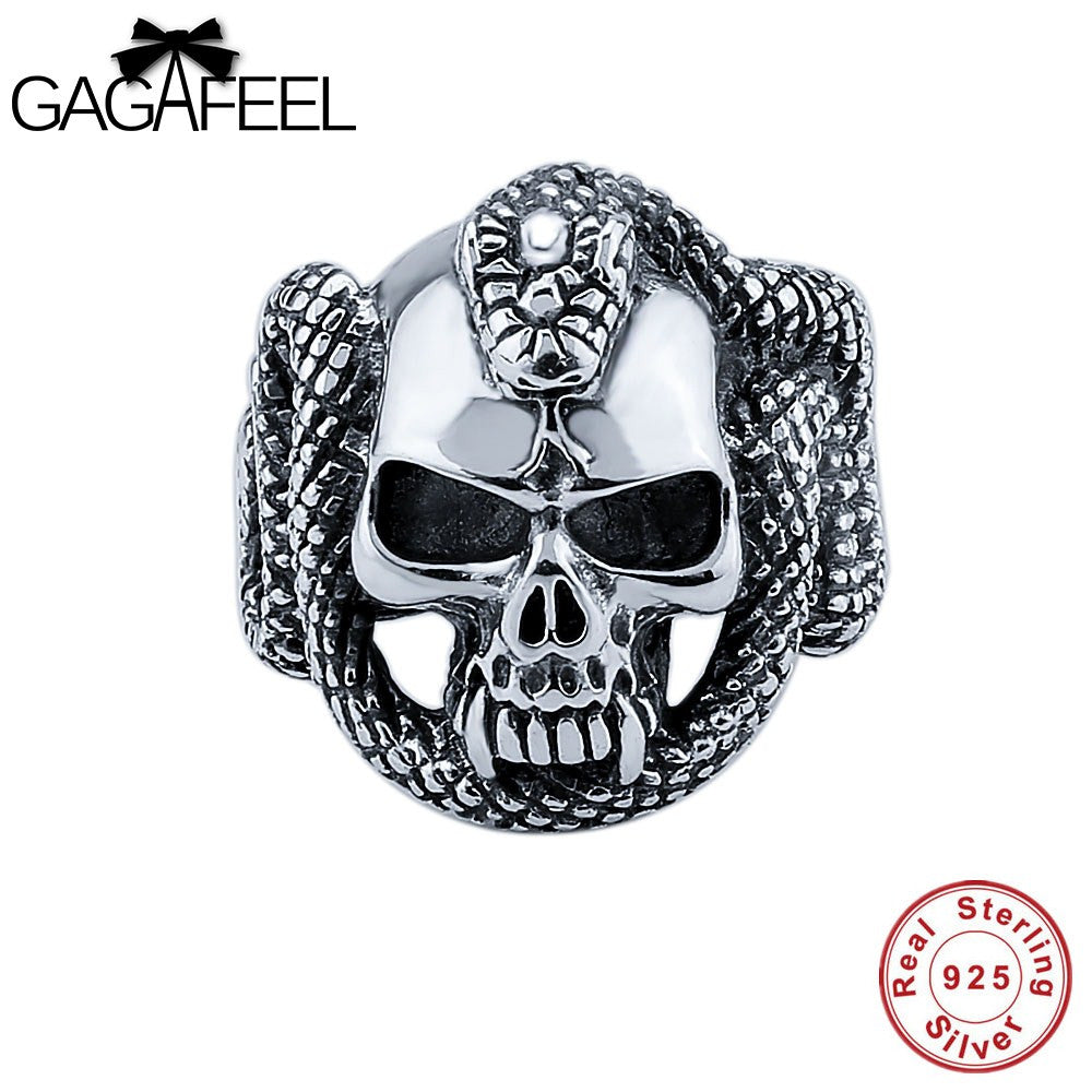 100% 925 Sterling Silver Cool Skull Ring