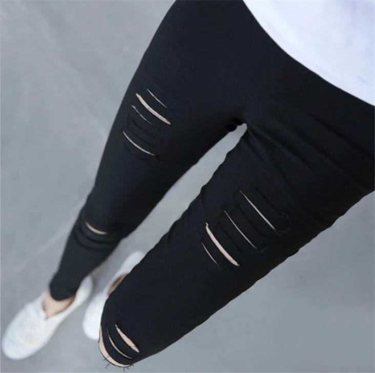 Super Stretch Sexy Hole Fitness Leggings For Women