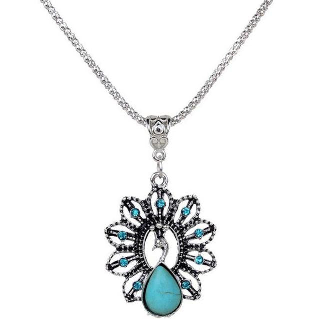 Bohemia Style Peacock Turquoise Necklace