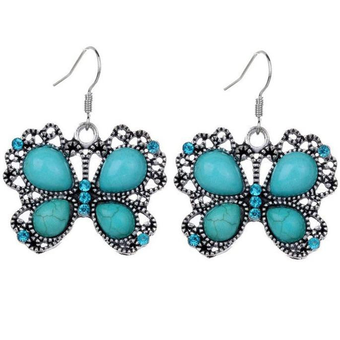 Vintage Style Butterfly Turquoise