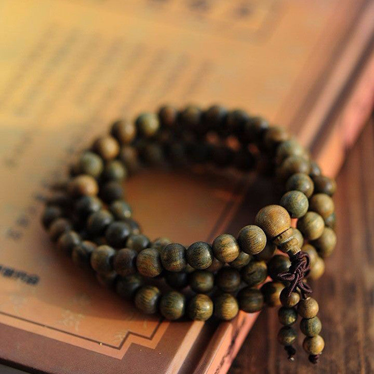 Sandalwood Buddhist Meditation 6mm*108 Prayer Bead Mala Bracelet/Necklace