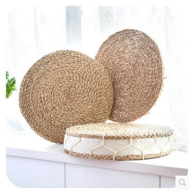 Hand Weave Thick Cattail Meditation Cushion