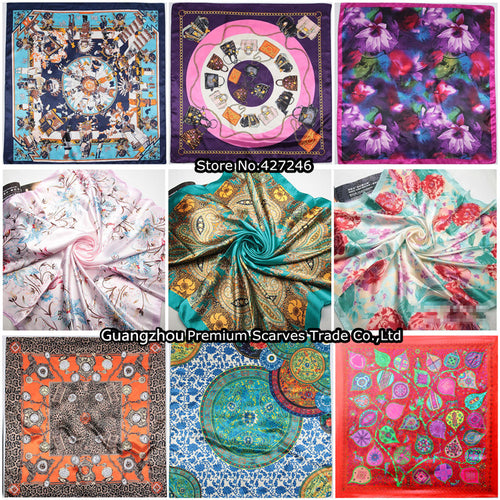 High Quality Imitated Silk Big Size Square Scarves