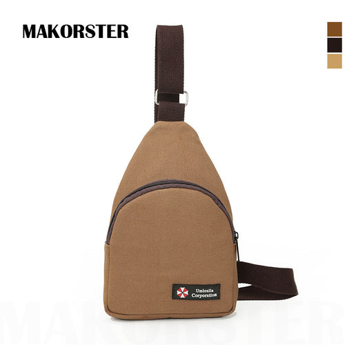 Canvas Chest Pack Men Bag Crossbody