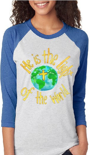 He is the Light- Adult Raglan