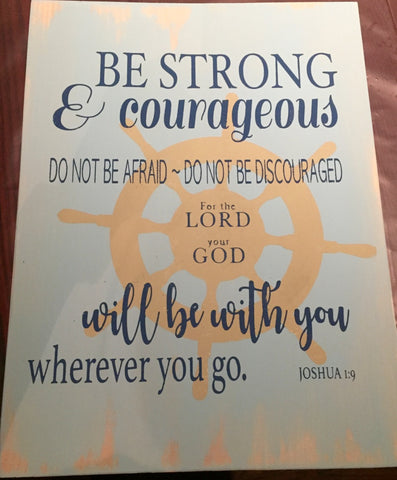 Be Courageous and Strong - wheel