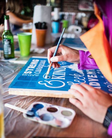 11/10 - Private Party - The Original Beer and Boards Custom Sign Painting Party L. McClees