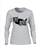 WE RISE Long Sleeve and Short Sleeve V Neck Women's T-shirt