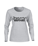 Jesus was a REFUGEE Long Sleeve and Short Sleeve V Neck Women's T-shirt