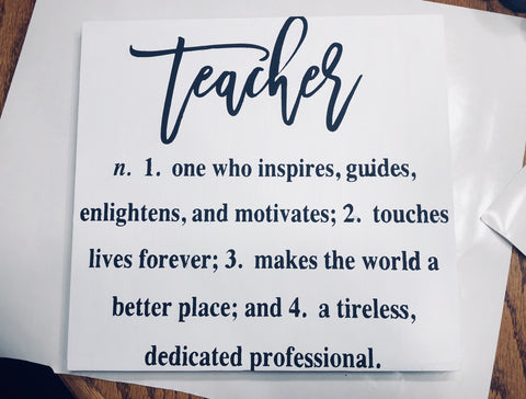 Teacher Appreciation Week Handpainted Wood Sign