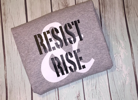 RESIST & RISE Short Sleeve Women's V-neck T-shirt
